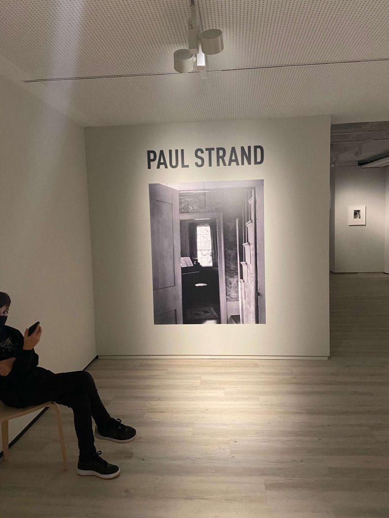 Entrada de la exposició de Paul Strand