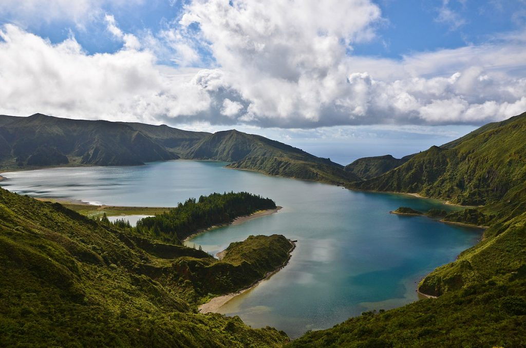 1200px Lagoa do Fogo on Sao Miguel in the Azores of Portugal on the planet Earth
